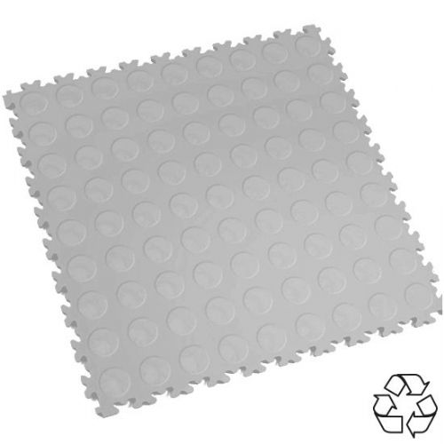 Light Grey Recycled Cointop - Motolock Interlocking Tile